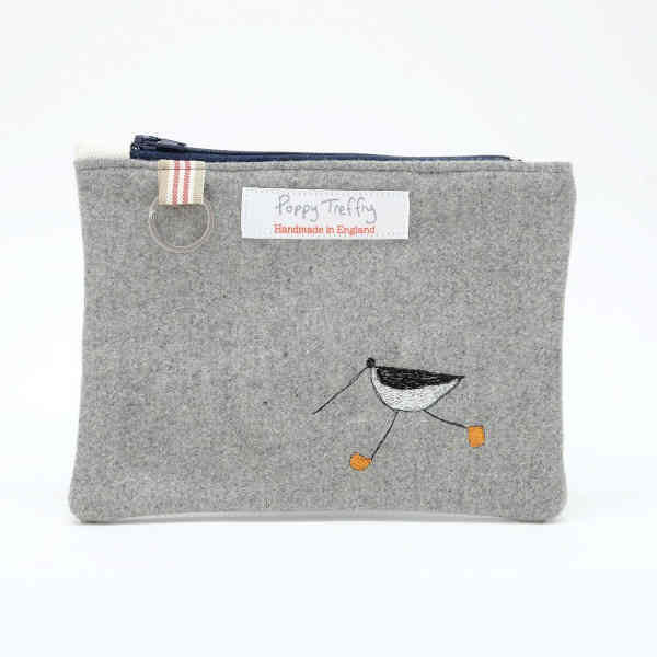 6e72f1abe5 Oystercatcher - Flat Embroidered Purse With Keyring
